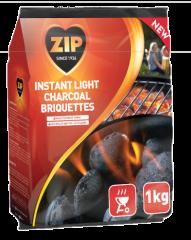 Zip Instant Light Charcoal Briquettes 1kg
