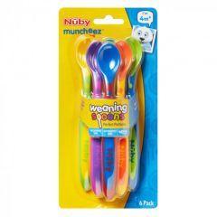 Nuby Weaning Spoons 6pk