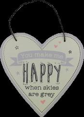 Love Life Plaque Small - Happy