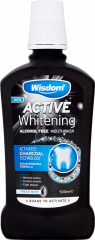 Wisdom Active Whitening Charcoal Mouthwash 500ml
