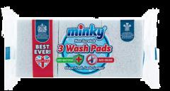 Minky Non Scratch Sponge Scourers Anti-Bacterial & Anti-Grease 3pk