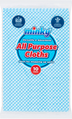Minky All Purpose Cloth 10 Pack