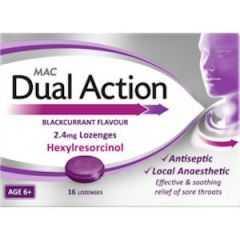 Mac Dual Action Sore Throat Lozenges 16's