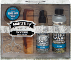 Man 'Stuff Tidy Whiskers Set