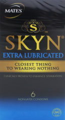 Skyn Extra Lubricated Condoms 6's