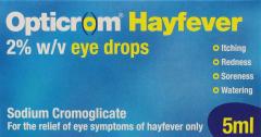 Opticrom Hayfever Relief Eye Drops 5ml