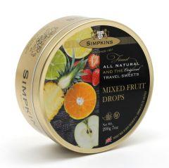 Simpkins Mixed Fruit Travel Sweet Tins 200g