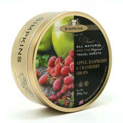 Simpkins Apple, Raspberry & Cranberry Travel Sweet Tins 200g