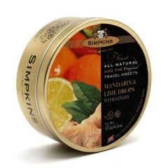 Simpkins Mandarin Lime and Ginger 15g Travel Sweet Tins 175g
