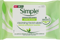 Simple Cleansing Face Wipes 7's
