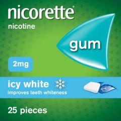 Nicorette Icy White Gum 25s