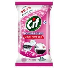 Cif Power & Shine Multipurpose Wipes 60s