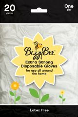 Bizzybee Extra Strong Disposable Gloves One Size 20 Pack