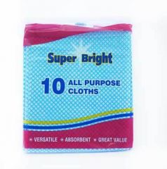 Superbright Multi-Purpose Cloths 10's