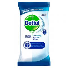 Wholesale Dettol Anti-Bacterial Surface Wipes 28s - Pack Size 8