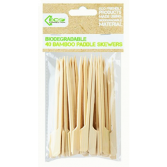 BBQ Skewers Biodegradable Bamboo 40 Pack