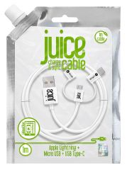 Juice Cable 3in1 1m Round White
