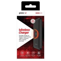 Groov-e Wireless Charger 8000mAh Portable Power Bank
