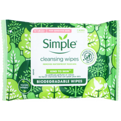 Simple Cleansing Face Wipes Biodegradable 7's
