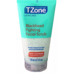 Wholesale T-Zone Deep Cleansing Blackhead Fighting Facial Scrub 150ml Pack size 6