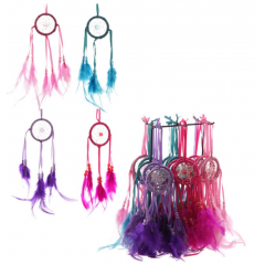 Mini Feather Dreamcatchers With Stand