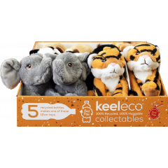 Keel Eco Soft Toys Wild Animals in CDU 12cm