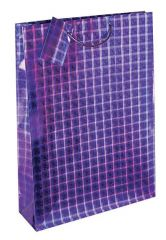 Gift Bag Extra Large Holographic Assorted Colours W330 x H450 x D100mm