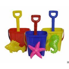 Bucket Set - 13cm Castle Bucket with 25cm Spade & Mould