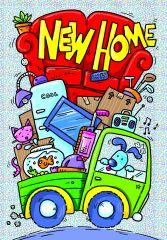 Wholesale Cartoon New Home Card
