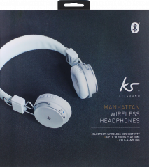 Kit Sound Manhattan Over Ear Heaphones Wireless With Mic White
