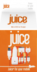 Juice In Car Charger Multi Tip 1Amp