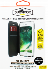 Griffin Survivor Clear Case For iPhone 8, 7, 6s & 6 Black/Smoke/Clear