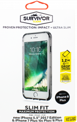Griffin Survivor Clear Case For iPhone 8+, 7+, 6S+ & 6+ Black/Smoke/Clear