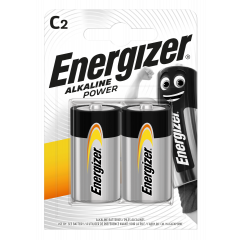 Energizer Alkaline Power C Batteries 2pk