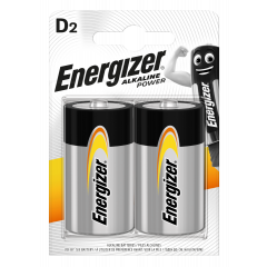 Energizer Alkaline Power D Batteries 2pk