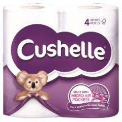 Cushelle Toilet Roll White 4pk