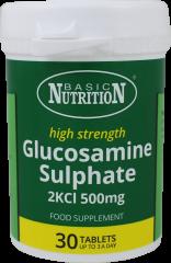 Basic Nutrition High Strength Glucosamine Sulphate 500mg 30's