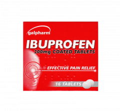 Galpharm Ibuprofen 200mg Coated Tablets 16's