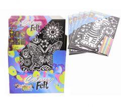 Colour Felt Set 28cm x 38cm Assorted Designs CDU