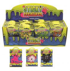 Sticky Creatures 9-11cm 12 Assorted Designs CDU
