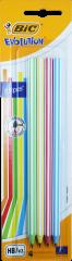 Bic 4 Evolution Stripes HB Pencil Hang Pack