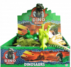 Dino World 24cm Dinosaur 12 Assorted Designs CDU