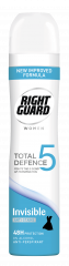 Right Guard Total Defence Anti-Perspirant Invisible For Women 250ml