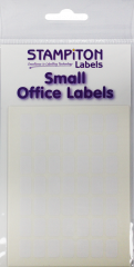 White Self Adhesive Labels 18mm x 22mm