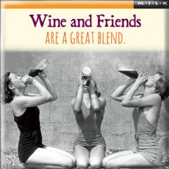 Magnet - Wine And Friends Are A Great Blend