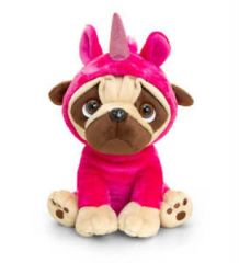 Keel 20cm Pugsley in Unicorn Onesie Designs May Vary