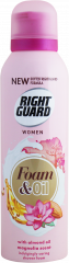 Right Guard For Women Shower Foam & Oil Magnolia Almond Oil 200ml