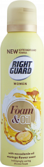 Right Guard For Women Shower Foam & Oil Moringa Macadamia Oil 200ml