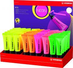 Stabilo Neon Highlighter Assorted Colours CDU