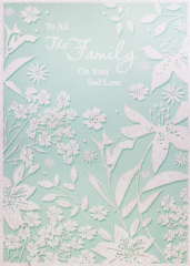 Sympathy To All The Family Card